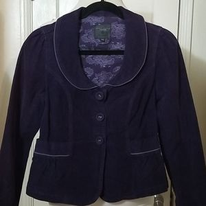 SANCTUARY ANTHROPOLOGIE purple corduroy bl…